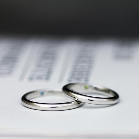 [Artisan Works] プラチナ(Pt950) / 甲丸or平打の鍛造マリッジリング・結婚指輪
