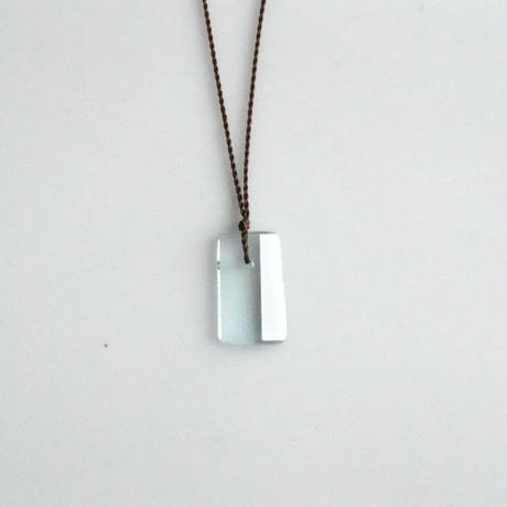 Margaret Solow Geometric  Necklace    Aquamarine