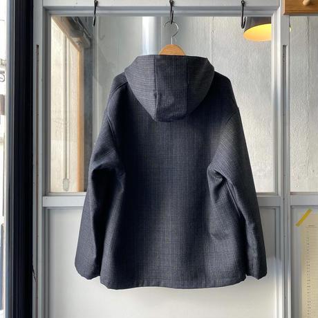 AURALEE   BLUEFACED WOOL DOUBLE CLOTH ZIP HOODIE  (mens)  A20AB02BN