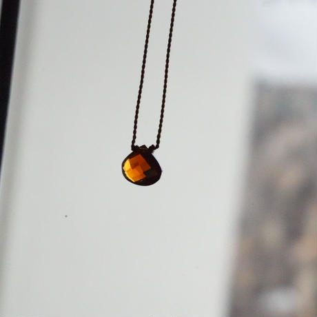 Margaret Solow  Small Faceted Stone Necklace     Garnet