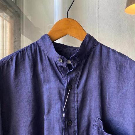 COMOLI   リネンWクロス プルオーバーシャツ