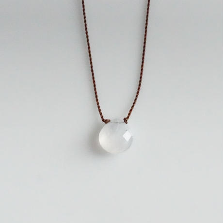Margaret Solow  Small Faceted Stone Necklace   Rainbow Moonstone