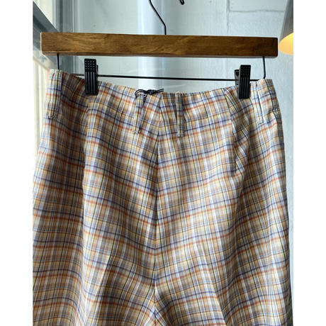 AURALEE  WOOL RECYCLE POLYESTER SHEER CHECK PANTS  A21SP02RC  (womens)