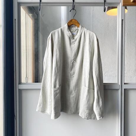COMOLI   リネンヘリンボーン スタンドカラージャケット