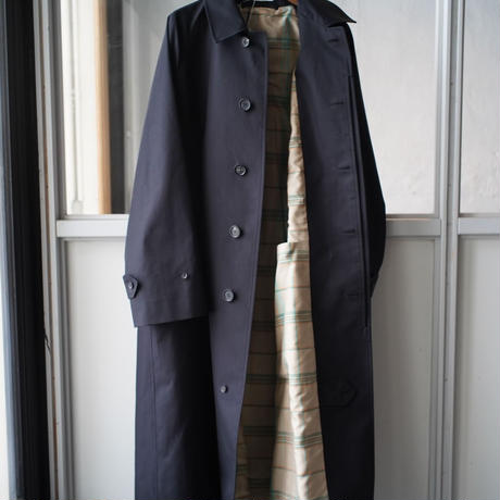 AURALEE  COTTON SILK GABADINE LONG SOUTIEN COLLAR COAT (Mens)