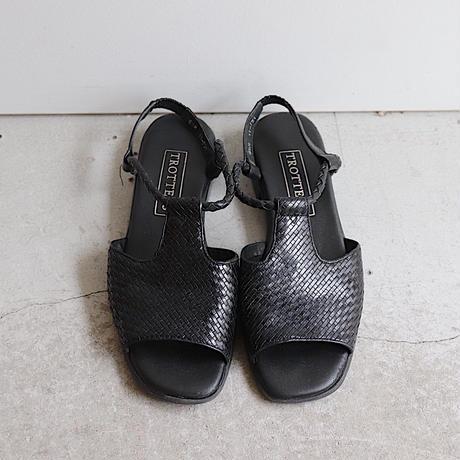 leather mesh sandal