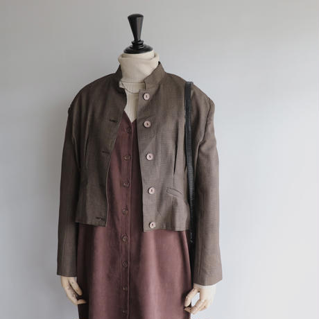 Check stand collar jacket