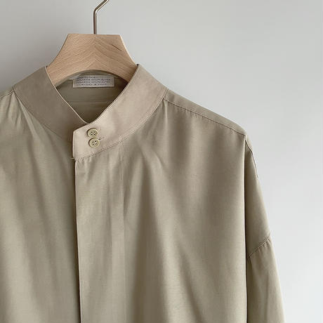 Beige stand collar shirt