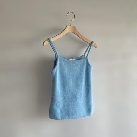 Blue angora camisole