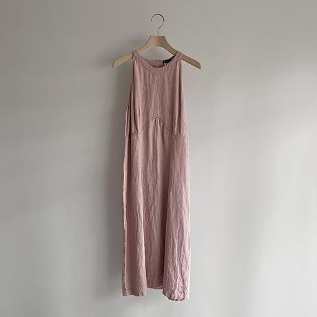 Pink linen one-piece