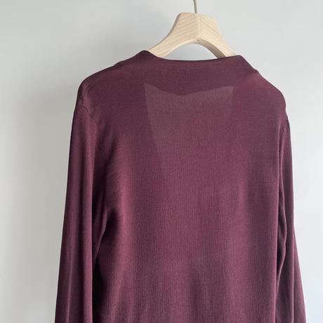 Bordeaux silk tops
