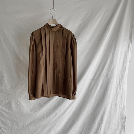 High neck brown blouse