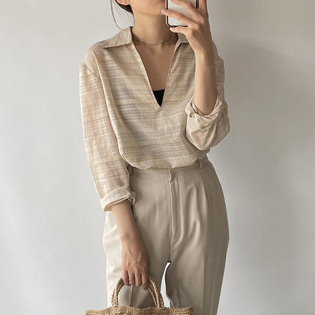 border see-through shirt