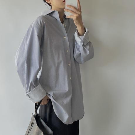 Navy stripe shirt