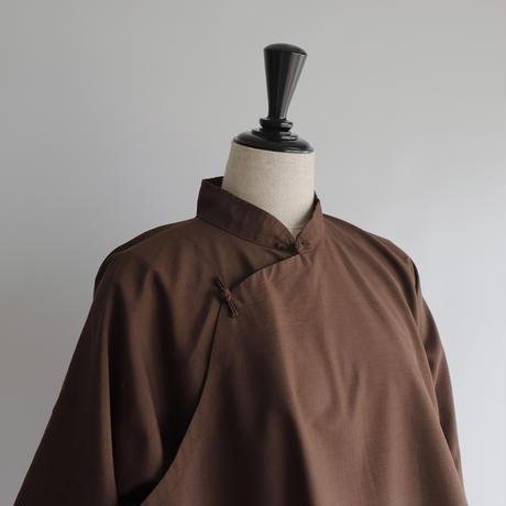 Brown china shirt