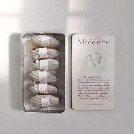 マドレーヌ6コ+オリジナル缶