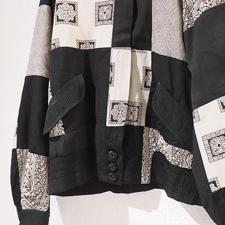 oriental patchwork blouson