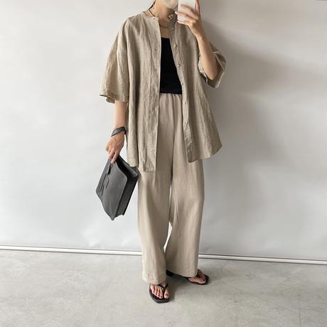 Check linen shirt