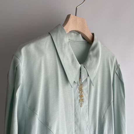 embroidery mint shirt