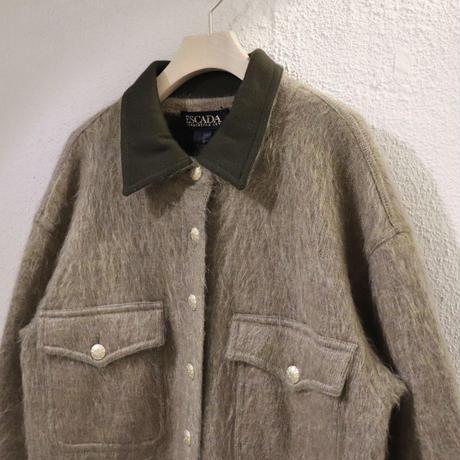 Shaggy knit jacket