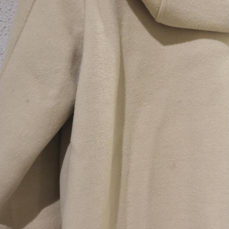 Ivory duffle coat