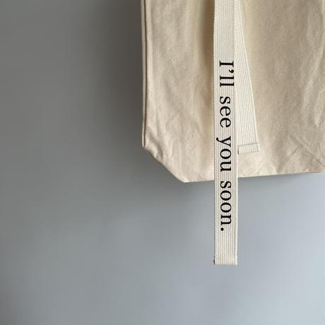 Ribbon logo tote bag