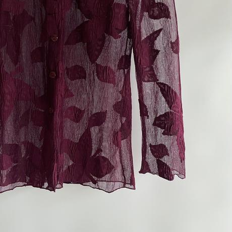 Leaf mesh shirt