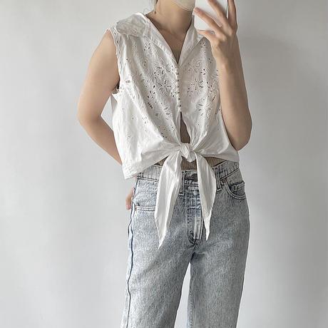 front tie blouse