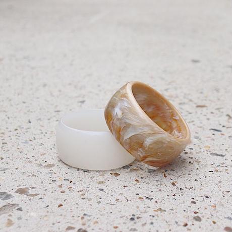 Milky white bangle
