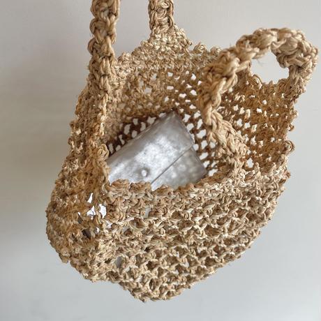 Raffia mini bag