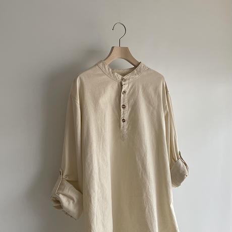linen mix henry shirt