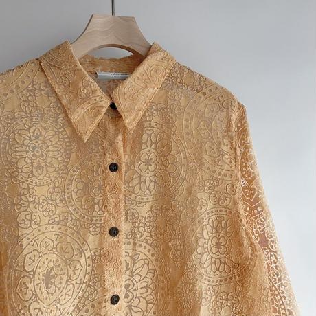 Pattern see-through shirt
