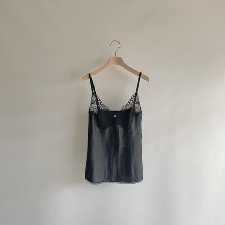 satin  black camisole