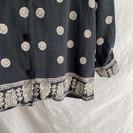 monotone silk shirt