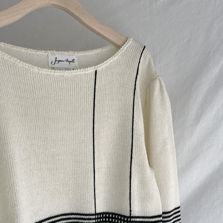 Boat neck line knit
