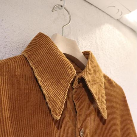 Orange corduroy shirt