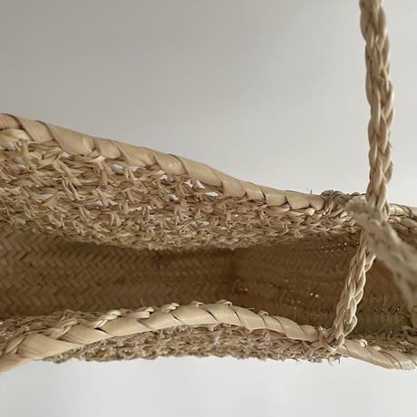 Square palm basket bag