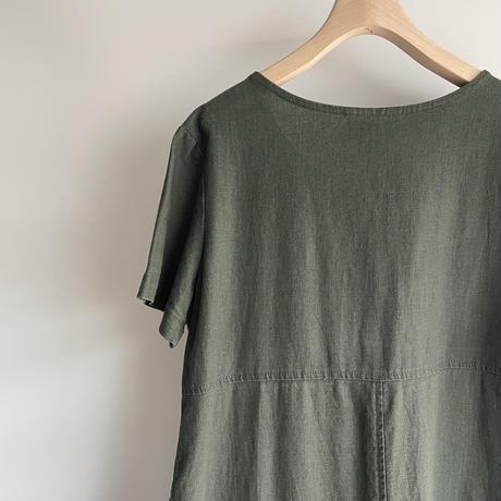 Linen green one-piece