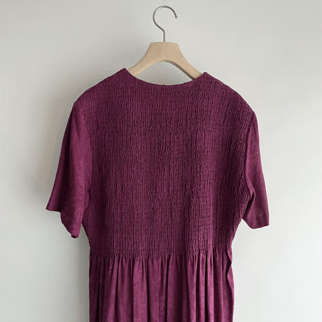 purple gather one-piece