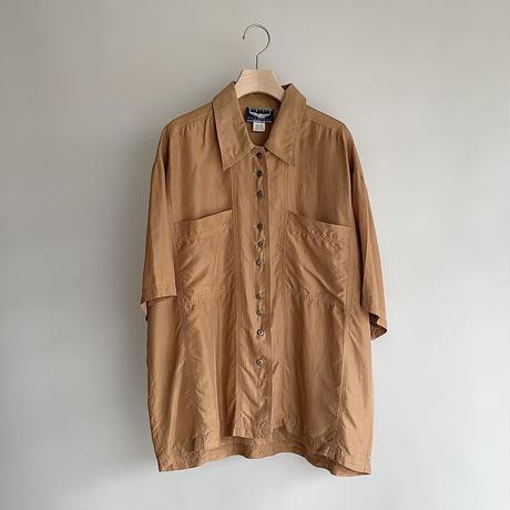 Orange silk shirt