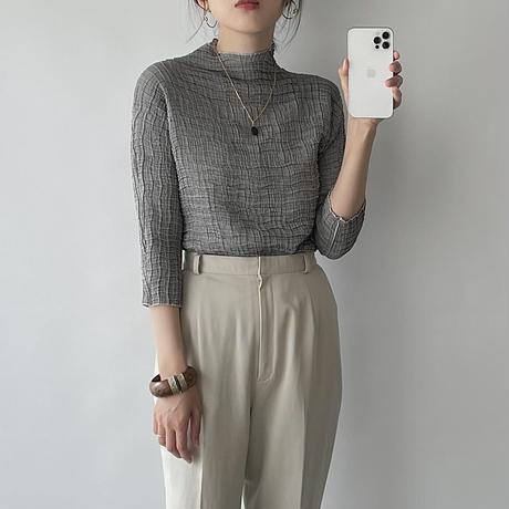 shirring gray tops