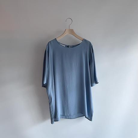 Silk blue T-shirt