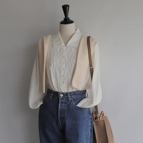 embroidery white blouse