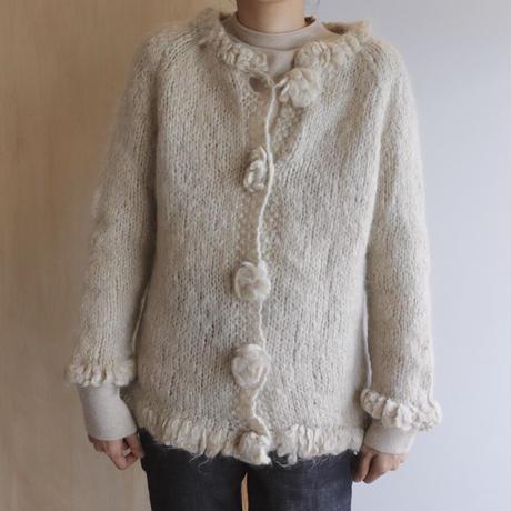 mohair flower knit
