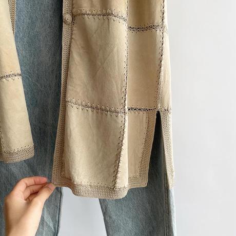suède crochet coat