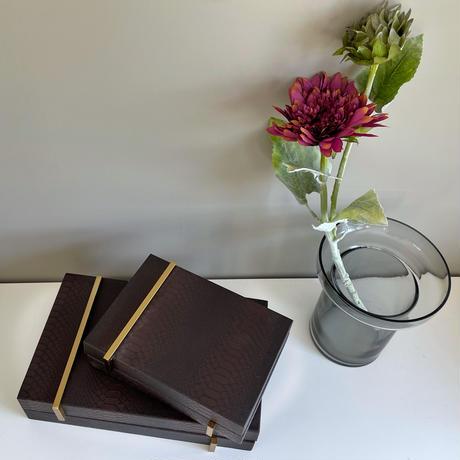 インテリアボックス ブラウンレザー (ラージ)