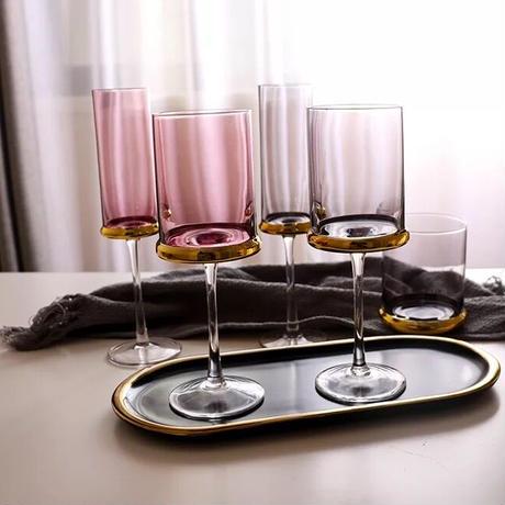 ゴールドリング ワイングラス