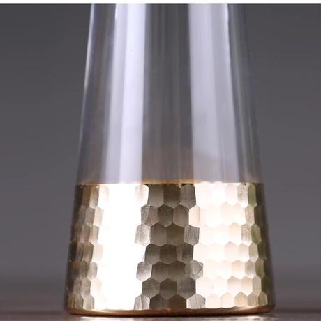 クリスタルガラス×ゴールド  (ラージ)