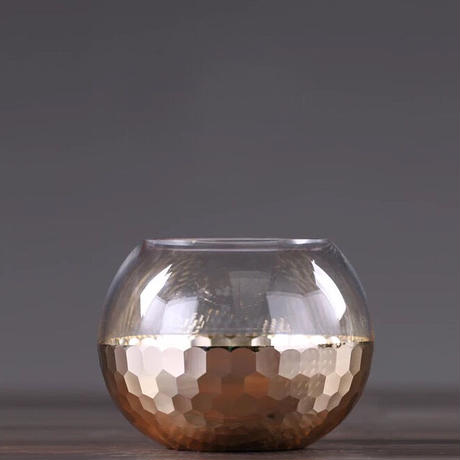 クリスタルガラス×ゴールド  (ミディアム)