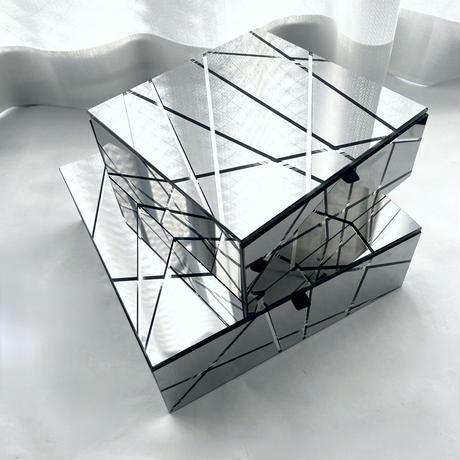 インテリアボックス ミラーシルバー(スモール)